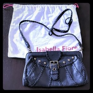 Isabella Fiore Bags - NWOT Isabella Fiore black leather convertible bag